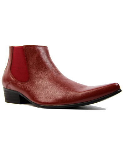 Dexter MADCAP ENGLAND Retro Mod Chelsea Boots RED