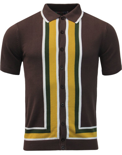 madcap england screamin jay retro mod polo brown