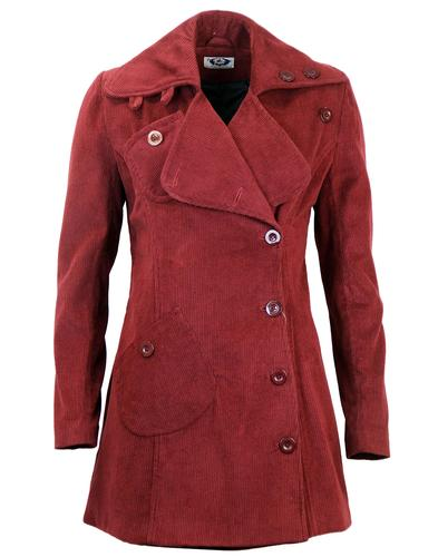 MADCAP ENGLAND WOMENS 60s JUMBO CORDUROY COAT
