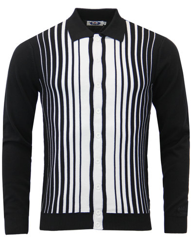 madcap england everly 60s mod stripe polo cardigan