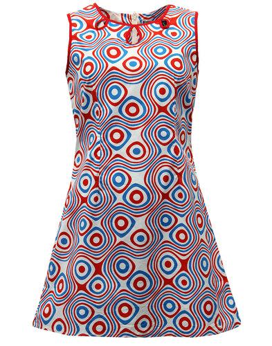 MADCAP ENGLAND RETRO MOD 60s DAISY DRESS OP ART