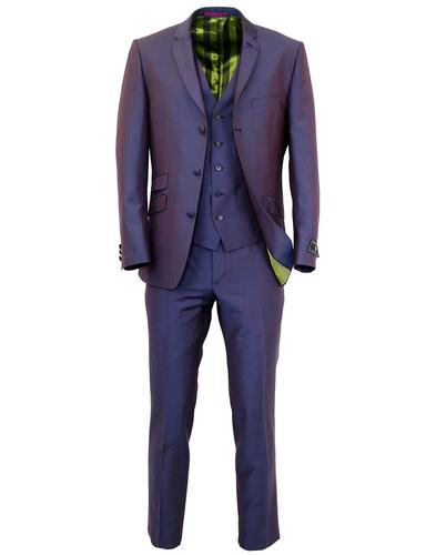 MADCAP ENGLAND RETRO MOD TONIC SUIT PURPLE