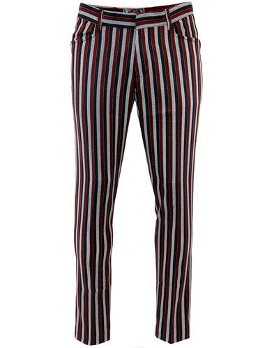 Meadon MADCAP ENGLAND Mod Boating Stripe Trousers