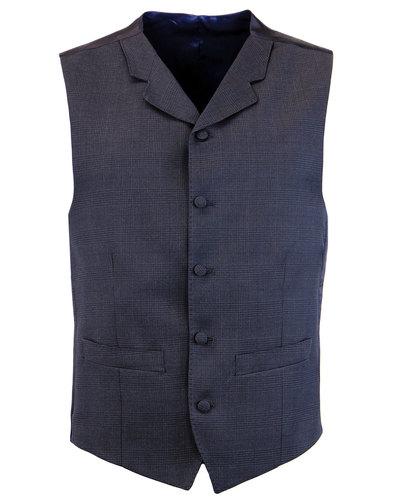 Madcap England Retro Mod Suit Waistcoat Blue Check