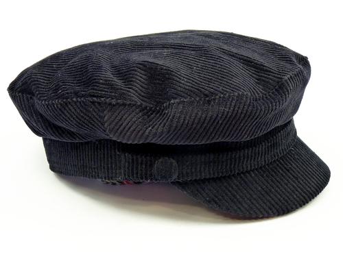 Beatle MADCAP ENGLAND Retro Cord Lennon Hat (Bl)