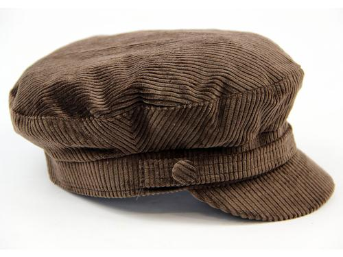 Beatle MADCAP ENGLAND Retro Cord Lennon Hat (DB)