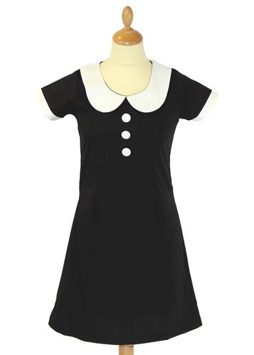 MADCAP ENGLAND RETR 60S MOD DRESS DOMINO DOLLIE