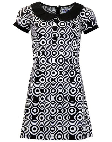 MADCAP ENGLAND RETRO MOD DOLLIEROCKER DRESS 60s