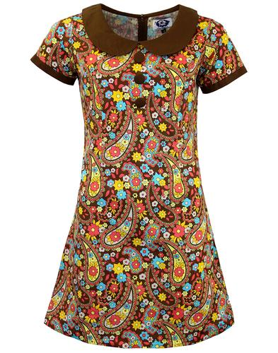 MADCAP RETRO MOD PAISLEY DRESS DOLLIEROCKER