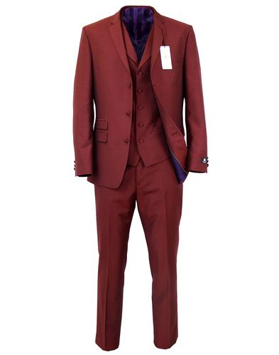 MADCAP ENGLAND RETRO MOD TONIC SUIT RED