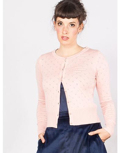 Lovelyn MADEMOISELLE YEYE Retro Cardigan in Blush