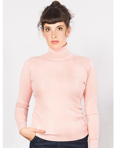 Rose MADEMOISELLE YEYE Retro 70s Ribbed Roll Neck