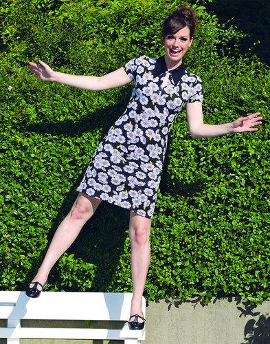 Fleur MADEMOISELLE YEYE Retro 60s Mod Floral Dress