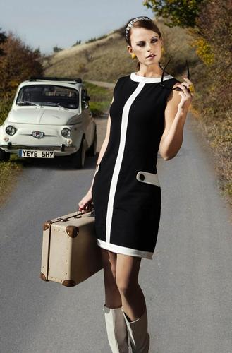MADEMOISELLE YEYE RETRO MOD 60S LOUISE DRESS