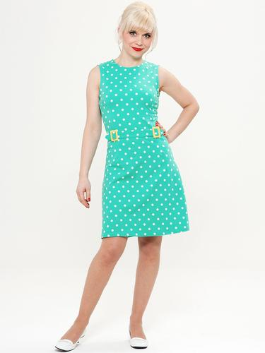 MADEMOISELLE YEYE RETRO MOD 60S DRESS POLKA DOT