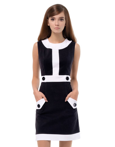 MARMALADE Retro 60s Mod Two-Tone A-Line Dress