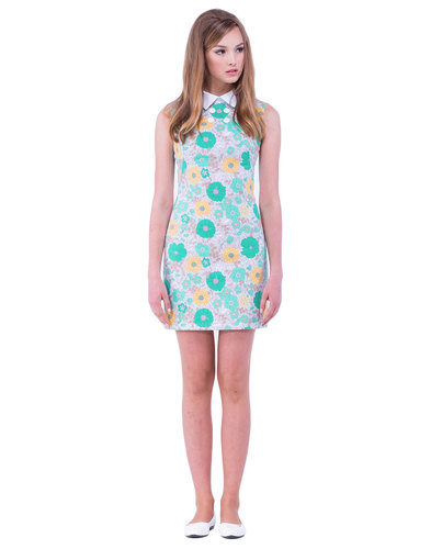 MARMALADE 1960s Mod Floral Patterned Mini Dress