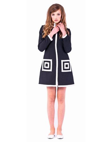 Marmalade Dresses Retro 60s Square Pockets Coat