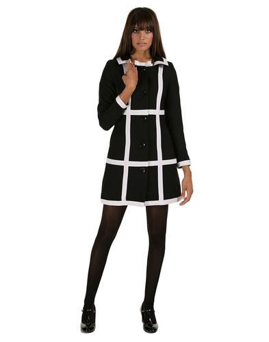 MARMALADE DRESSES RETRO MOD CHECK 60S COAT