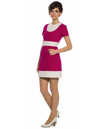 MARMALADE DRESSES RETRO MOD 60S DRESS PINK