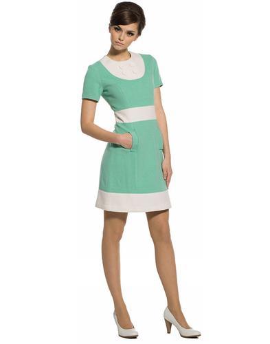 MARMALADE DRESSES RETRO MOD 60S DRESS GREEN