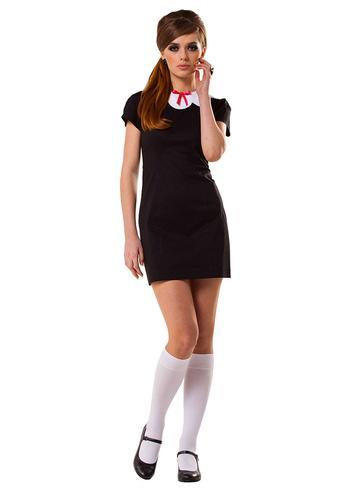 MARMALADE RETRO MOD VINTAGE 60s BLACK DRESS