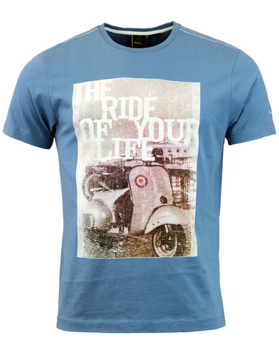 Grant MERC Retro Indie Mod Vintage Scooter T-Shirt