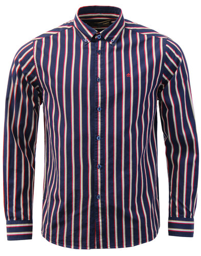 Elsted MERC 60s Mod Regatta Stripe Smart Shirt (N)