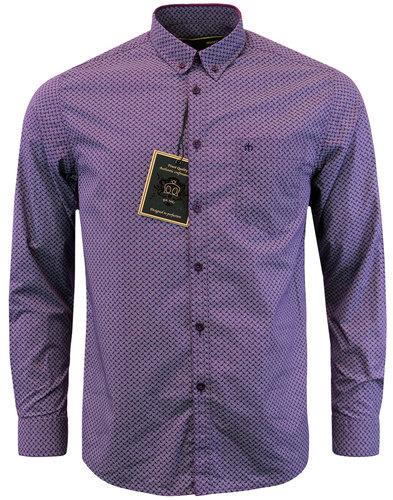 merc helmsley 60s mod paisley print shirt paisley