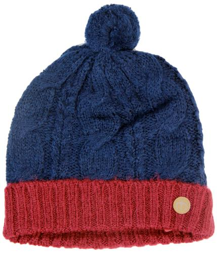 MERC RETRO MOD 70S CABLE KNIT BOBBLE HAT