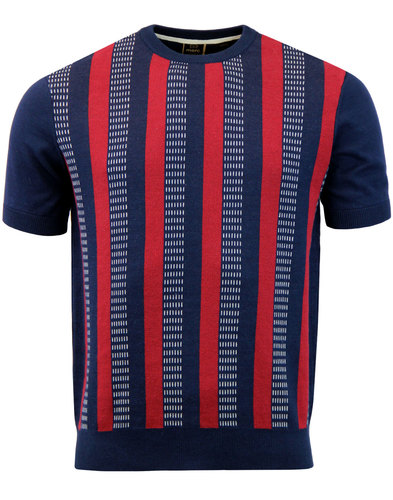 Reeves MERC 60s Mod Jacquard Stripe Panel Knit Tee