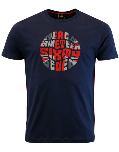 merc saxby retro 60s mod pop art union jack tee