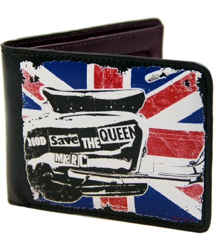 merc warley retro mod scooter union jack wallet