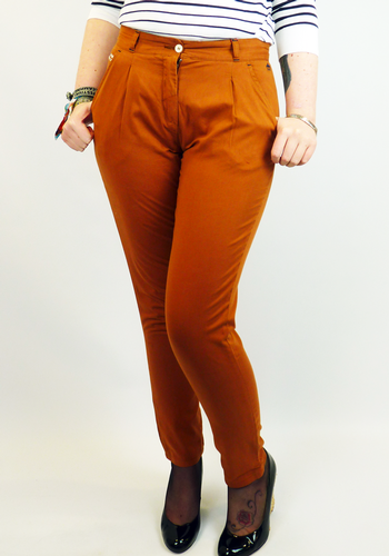 MERC WOMENS BERNICE TROUSERS RETRO MOD 60S CHINOS
