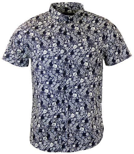 NATIVE YOUTH RETRO 60s FLORAL SHORT SLEEVE SHIRT