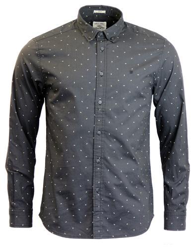 WRANGLER Micro Arrow Print Button Down Retro Shirt