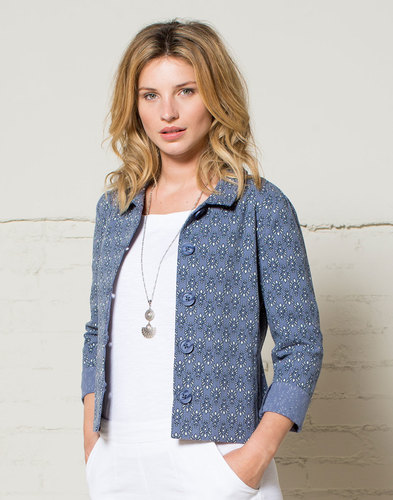 NOMADS Retro 60s Floral Jaipur Short Canvas Jacket