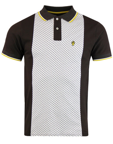 WIGAN CASINO Northern Soul Jacquard Panel Polo
