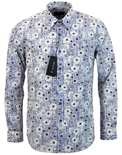 1 like no other omi retro mod wild flower shirt