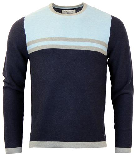 ORIGINAL PENGUIN RETRO 70S STRIPE KNIT JUMPER