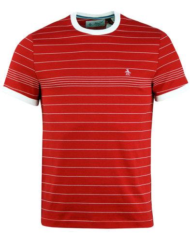 ORIGINAL PENGUIN Retro Engineered Stripe T-Shirt