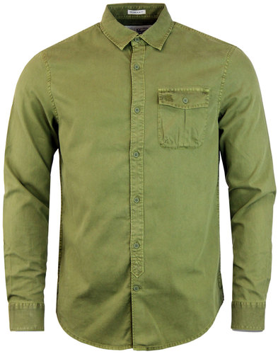 ORIGINAL PENGUIN Retro Garment Dyed Military Shirt