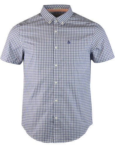 original penguin retro mod jaspe gingham shirt