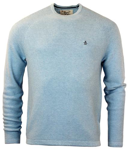 ORIGINAL PENGUIN RETRO 70S KNIT JUMPER BLUE