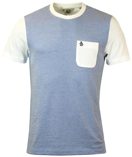 ORIGINAL PENGUIN RETRO MOD POCKET T-SHIRT BLUE