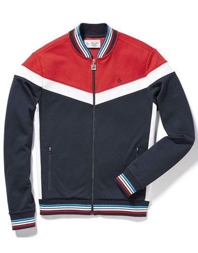 ORIGINAL PENGUIN Men's Retro 70s Chevron Track Top