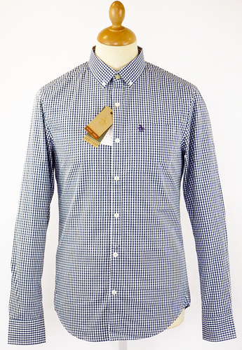 ORIGINAL PENGUIN BELAM GINGHAM SHIRT BLUE TEAL MOD