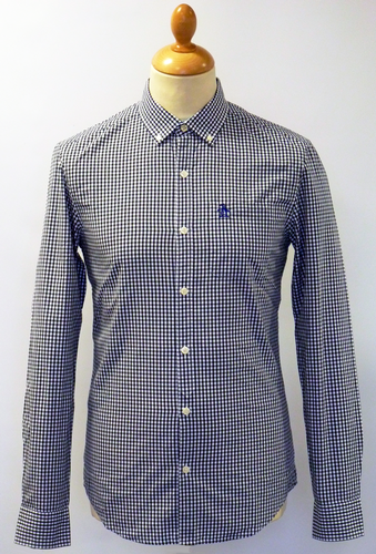 ORIGINAL PENGUIN RETRO MOD GINGHAM SHIRT NAVY