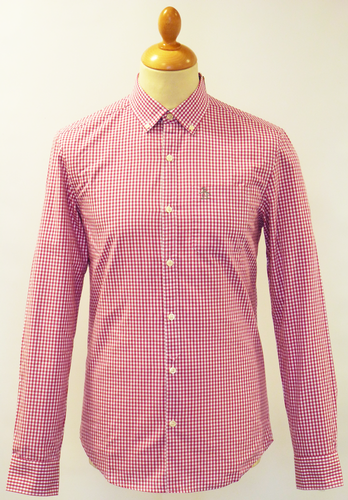 ORIGINAL PENGUIN RETRO MOD GINGHAM SHIRT MAGENTA