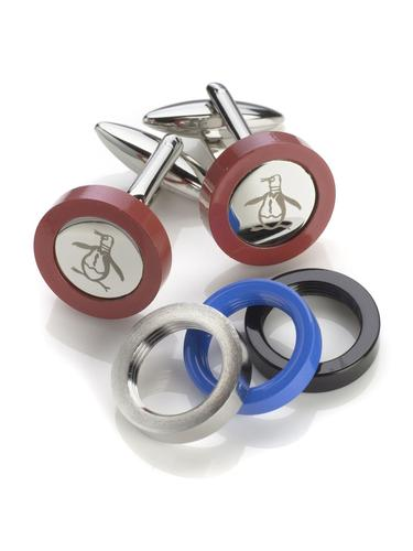 ORIGINAL PENGUIN RETRO INTERCHANGEABLE CUFFLINKS